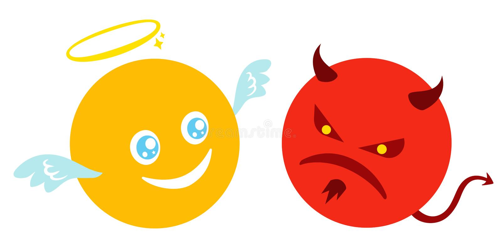 Funny and angry smiles vector illustration