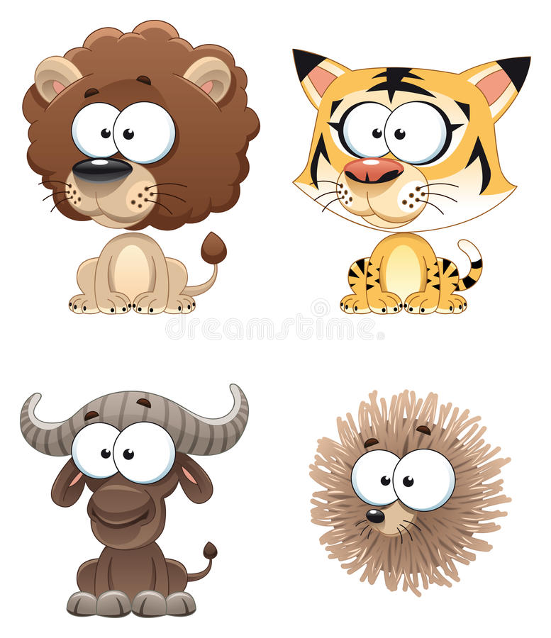 Download Funny Animal of Africa. stock vector. Image of bison - 12357901