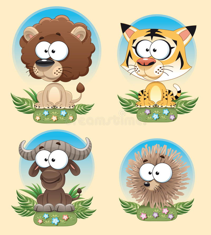 Download Funny Animal of Africa. stock vector. Image of animal - 12360611