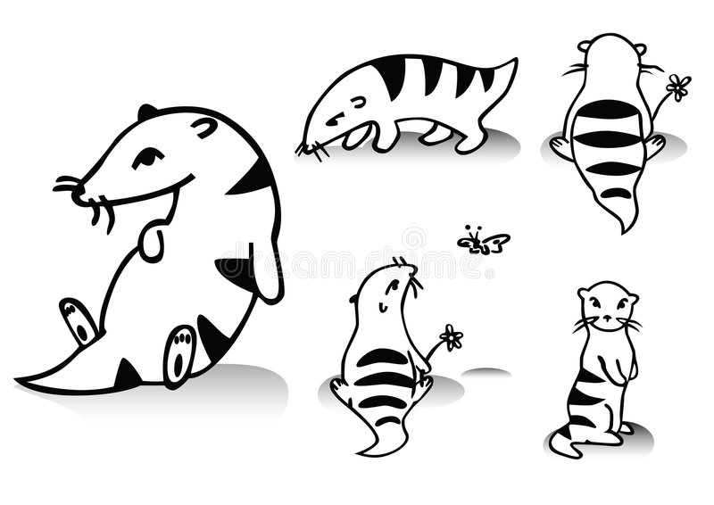 Funny animals. Cartoon.