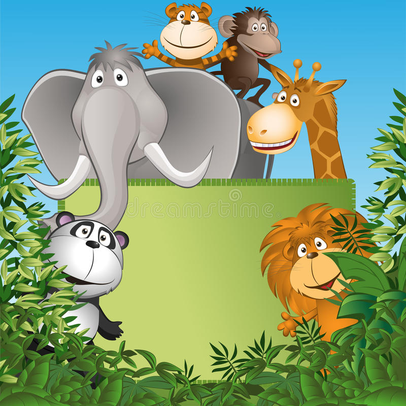 Funny animals royalty free illustration