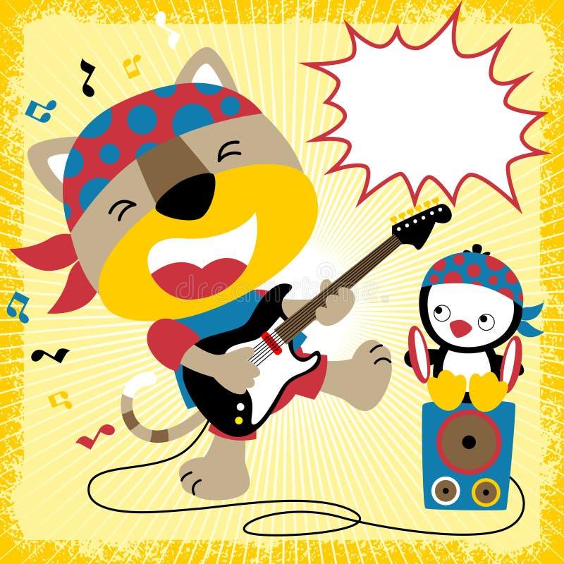 Music concert with animals cartoon vector vector illustration