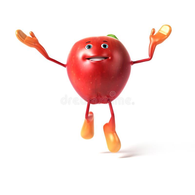 Download Funny apple stock illustration. Illustration of fruit - 25352550
