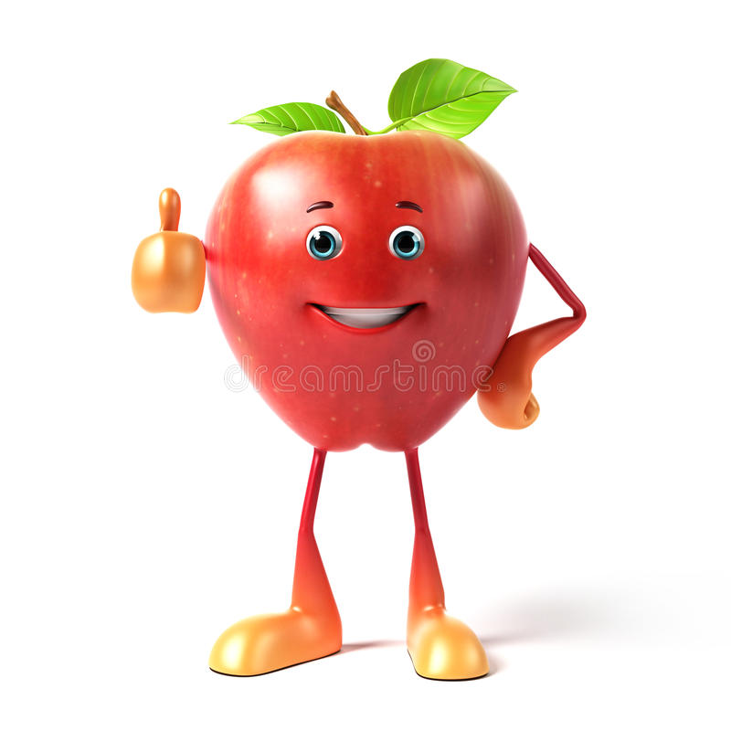 Download Funny apple stock illustration. Image of plant, smile - 25352699