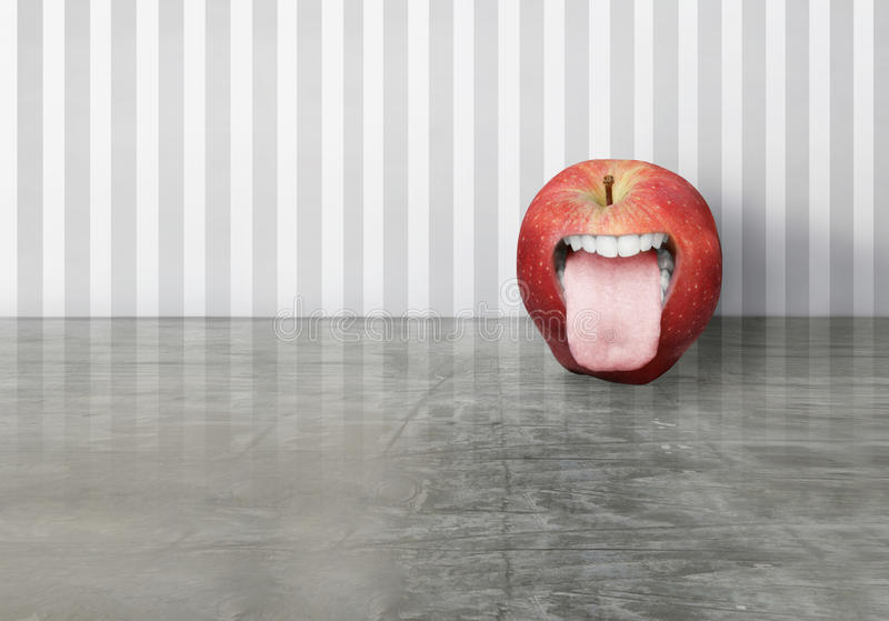Download Funny apple stock illustration. Image of human, artistic - 33628966