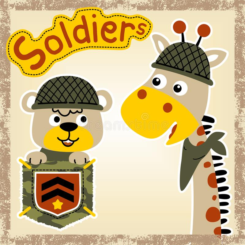 Funny army cartoon vector vector illustration