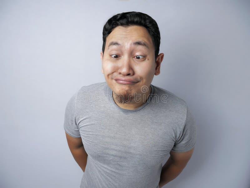 Funny Asian Man Smiling royalty free stock photo