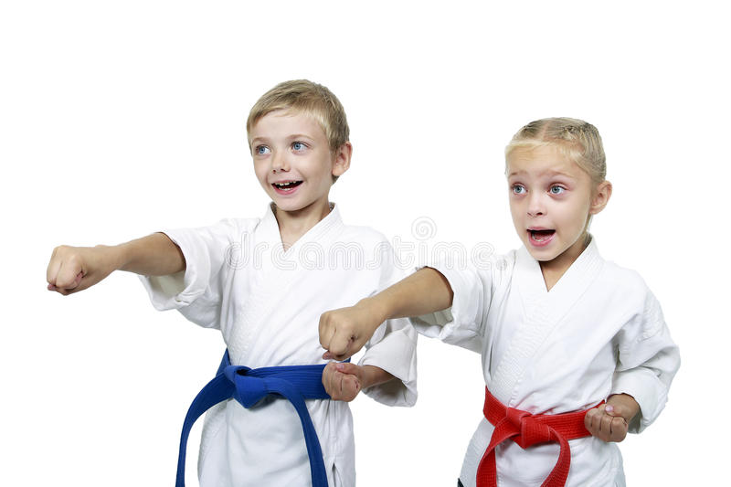 Download Funny Athletes Hit A Punch Arm Isolated Background Royalty Free Stock Images - Image: 32661159