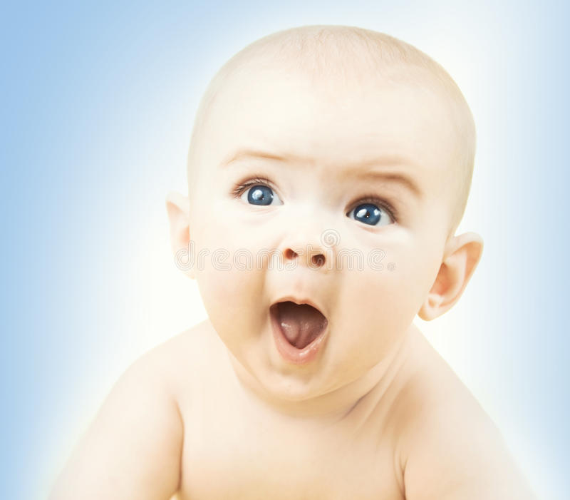Funny baby boy stock images