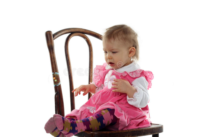 Funny Baby Girl In Pink Dress Stock Photo - Image of small ... - photo#46