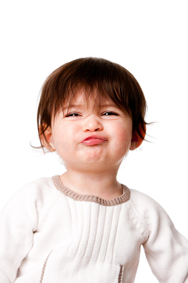 Funny baby toddler expression royalty free stock images