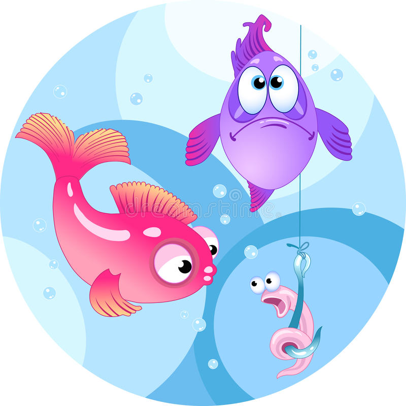 Funny bait for fishing vector illustration