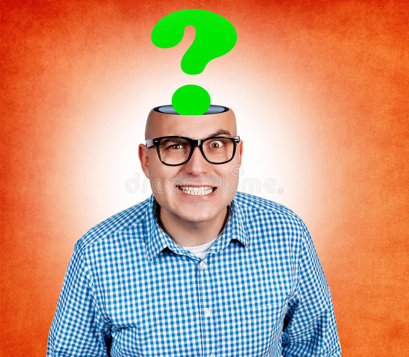 Funny Bald Guy Royalty Free Stock Photo