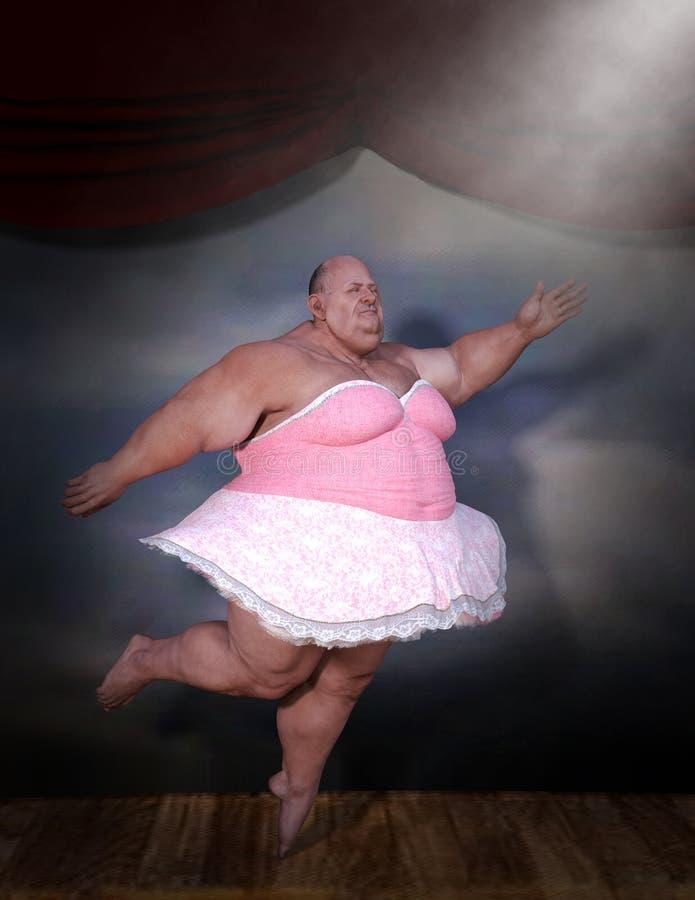 Fat ballet dancer