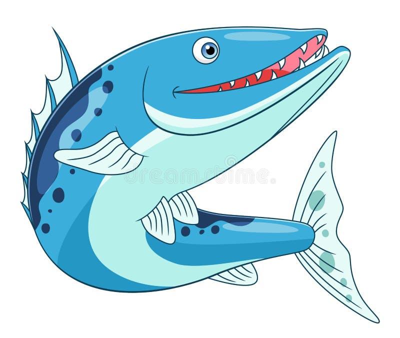 Funny barracuda. Isolated on white background royalty free illustration