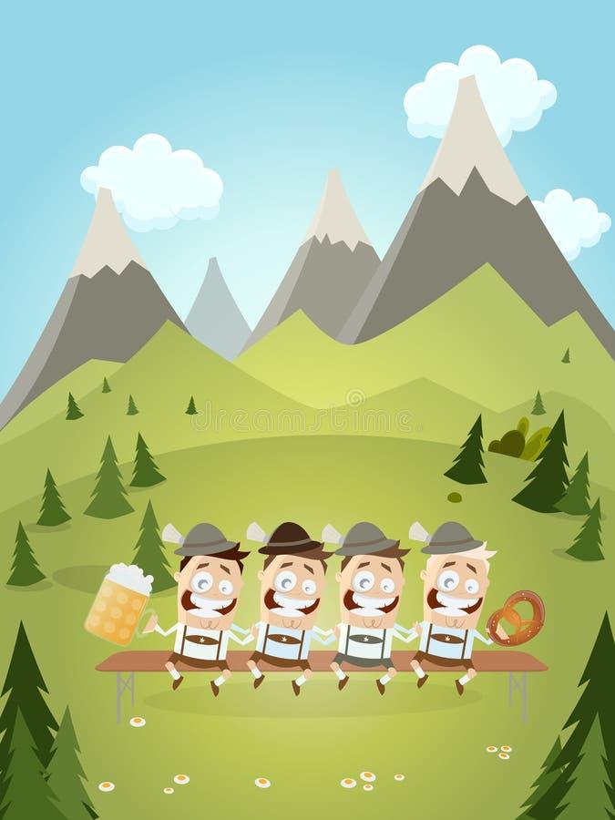 Funny bavarian party background. Illustration of a funny bavarian party background vector illustration