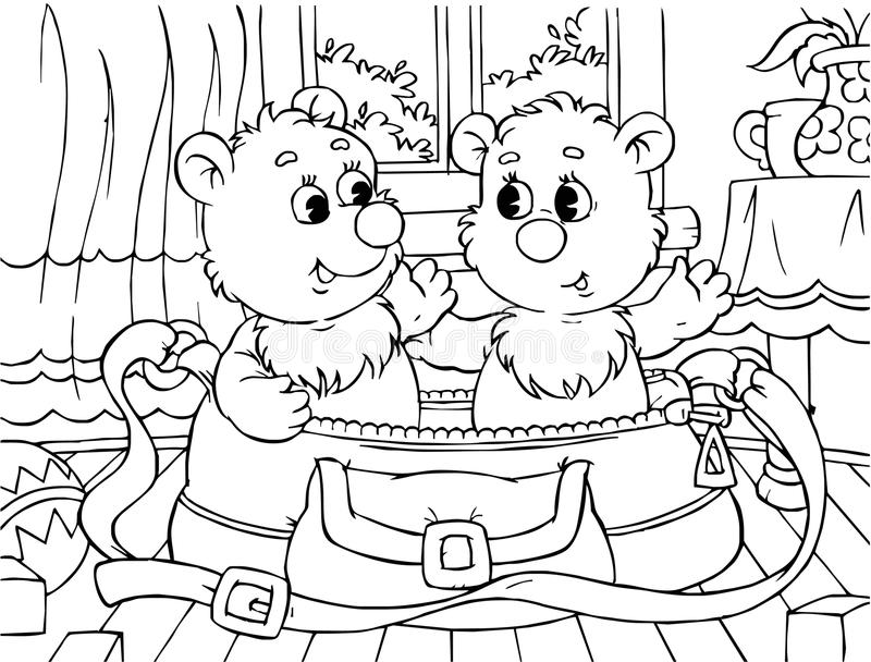 Funny Bears Royalty Free Stock Photo
