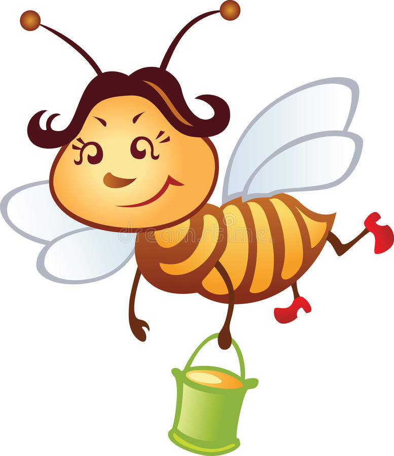 Download Funny bee stock vector. Illustration of yellow, vector - 12732088