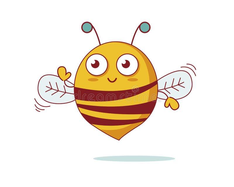 Funny bee stock photo