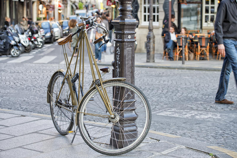Funny bicycle in Paris royalty free stock photography