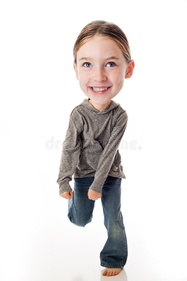 Download Funny Big Head Child stock image. Image of excited, happy - 35257079