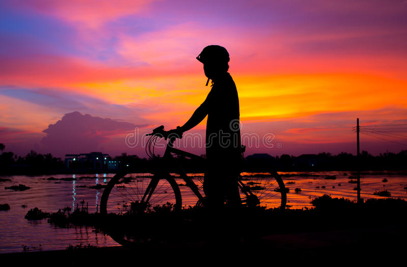Funny bike royalty free stock images