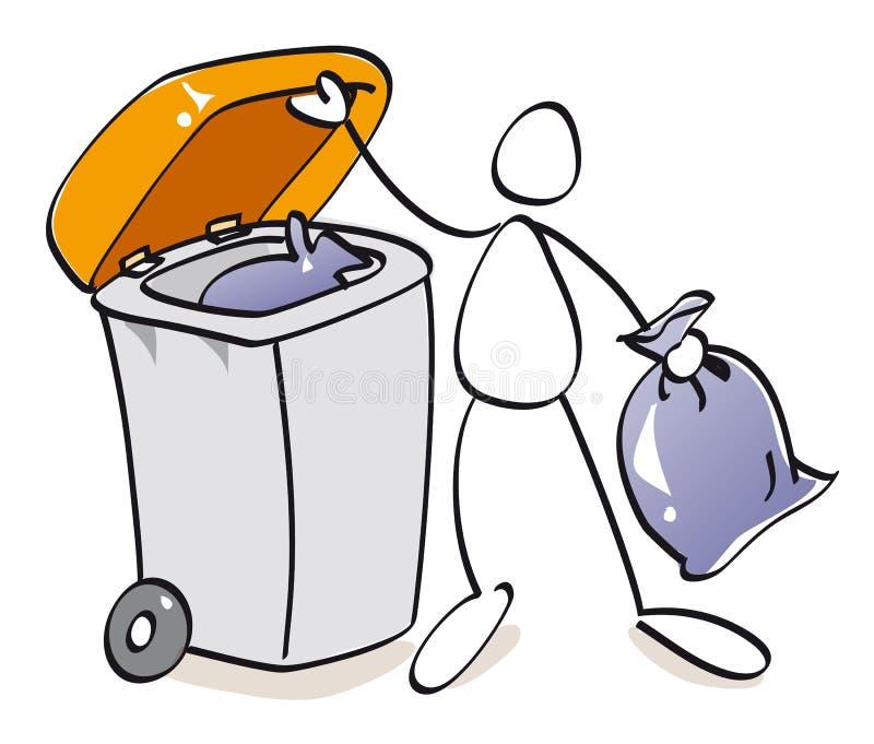 Download Funny bin of compost stock illustration. Illustration of bioculture - 20164484