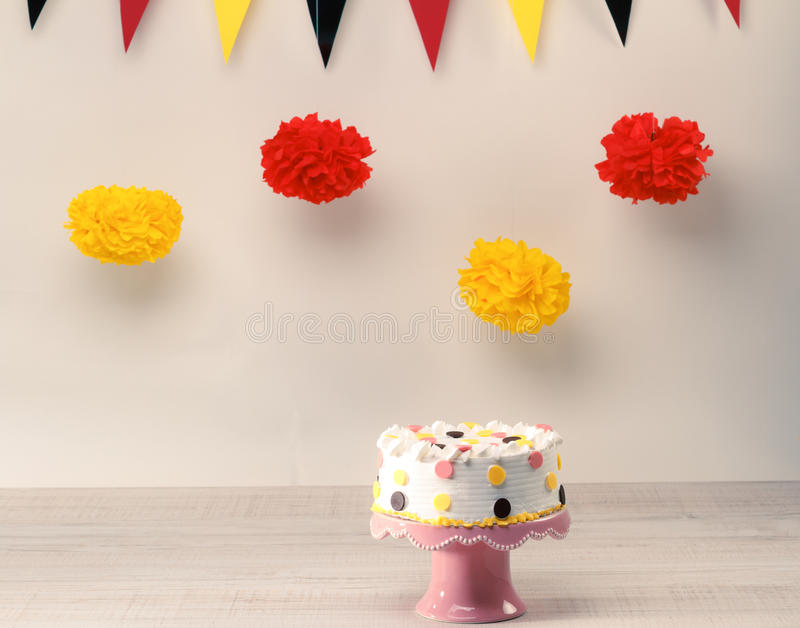Funny birthday cake stock photos