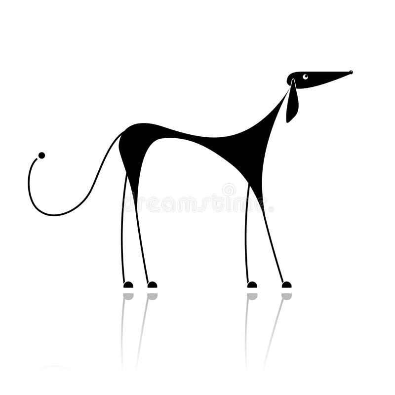 Download Funny Black Dog Silhouette For Your Design Stock Vector - Illustration: 16883416