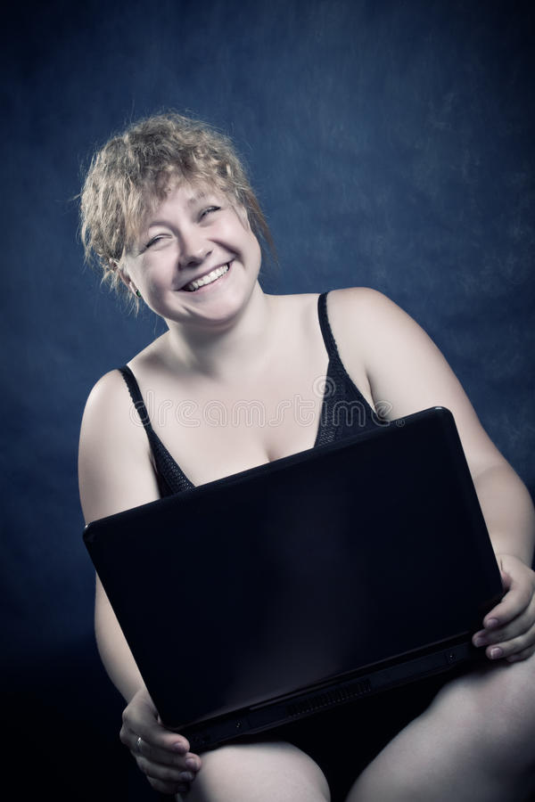 Download Funny blondie stock photo. Image of smiling, cyber, pretty - 14708176