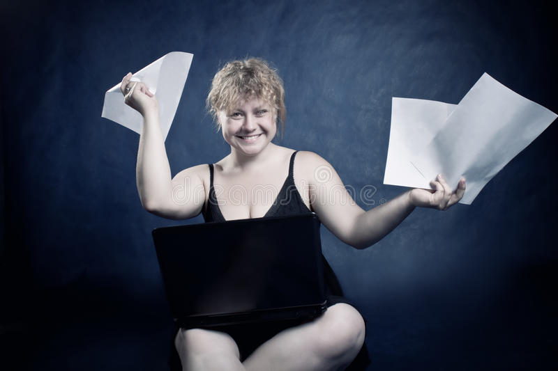 Download Funny blondie stock photo. Image of female, customer - 14708188