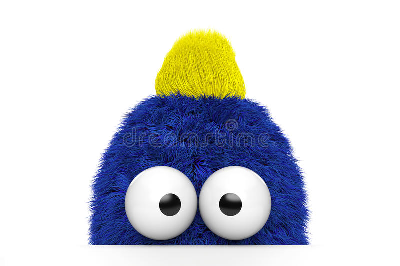 Funny Blue Fur Guy Stock Images