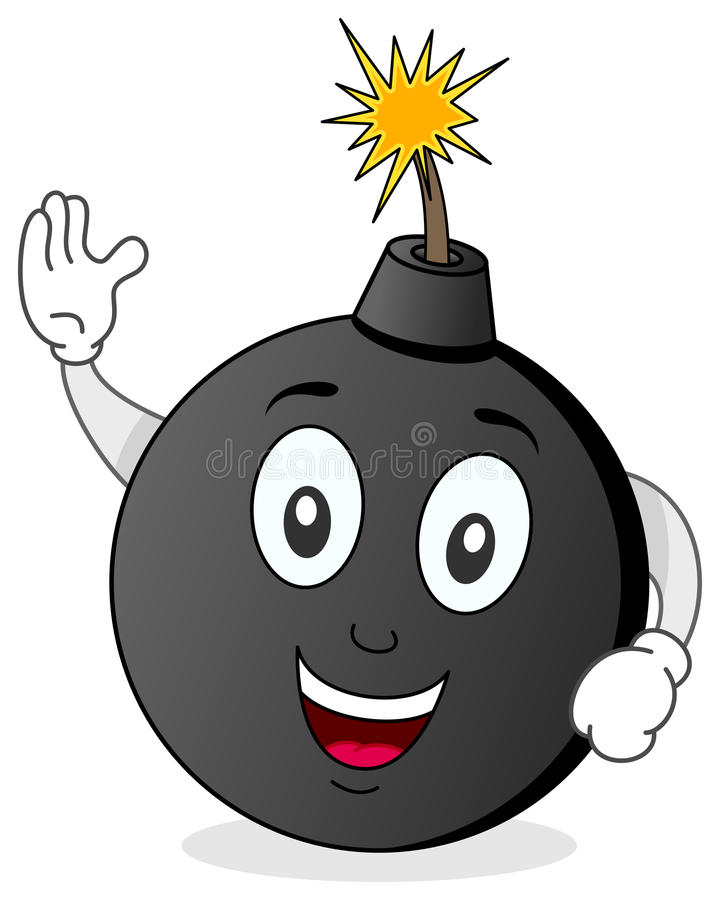 Funny Bomb Cartoon Character royalty free illustration