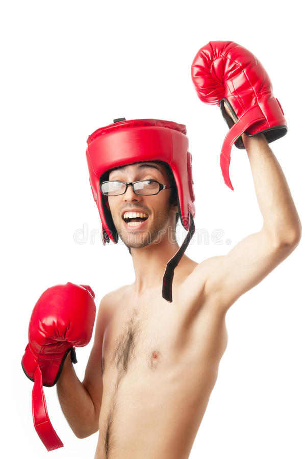 Download Funny boxer isolated stock image. Image of caucasian - 22924543