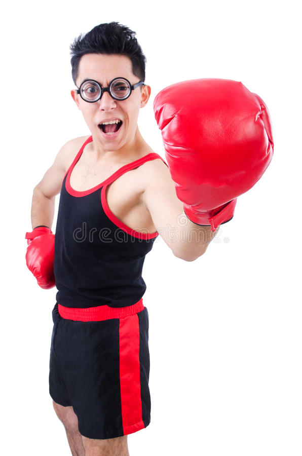 Download Funny boxer stock photo. Image of boxer, eyeglasses, action - 31601306