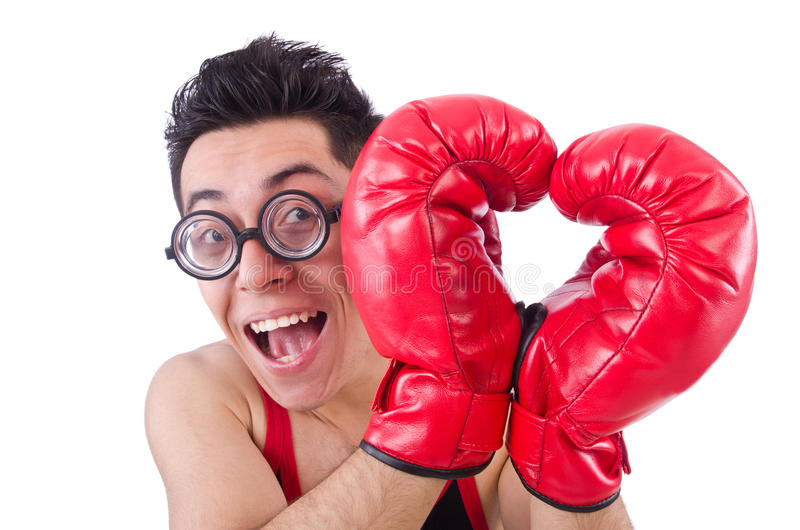 Download Funny boxer stock image. Image of caucasian, adult, champion - 32810733