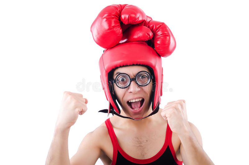 Download Funny boxer stock image. Image of kickboxing, glasses - 32810771