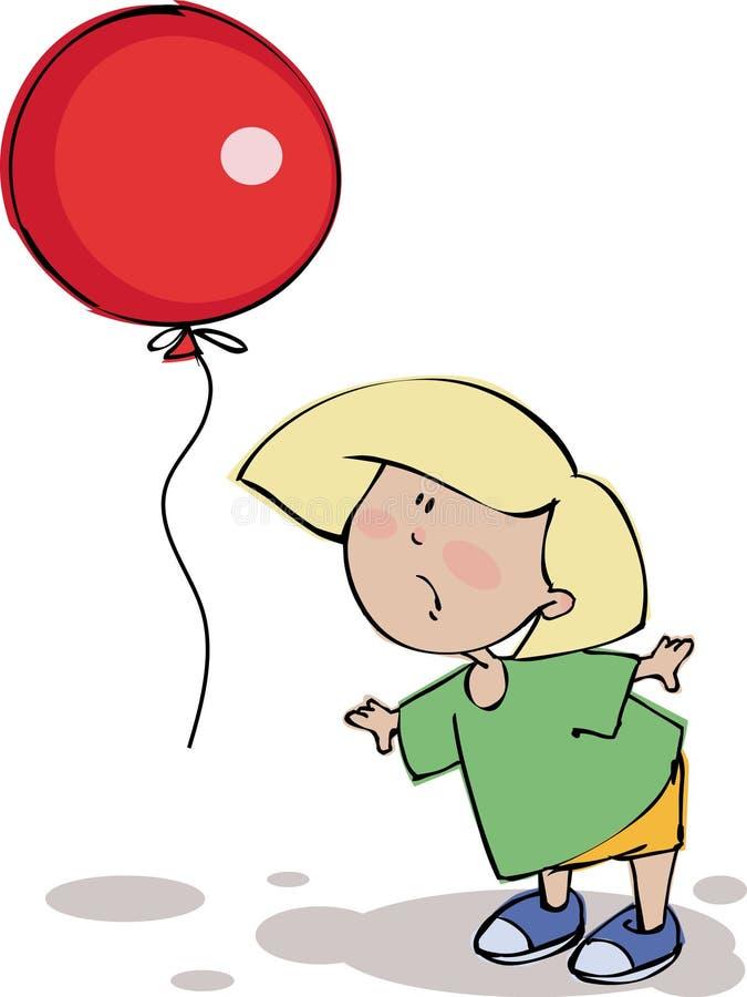 Funny boy with balloon stock photo