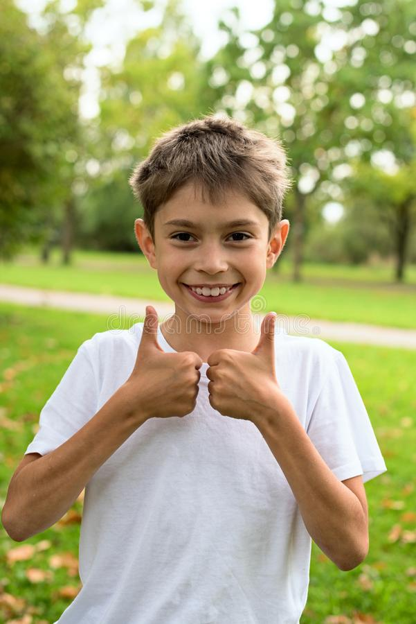 Funny boy smiling royalty free stock photography