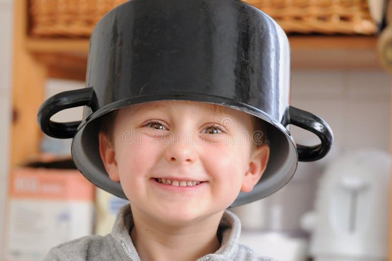 Funny boy stock photography