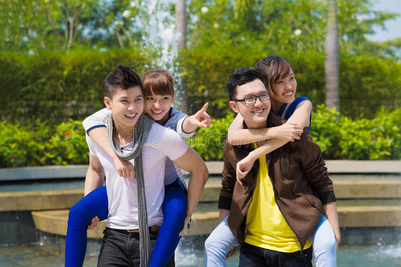 Download Funny piggybacking stock photo. Image of horizontal, date - 29906098