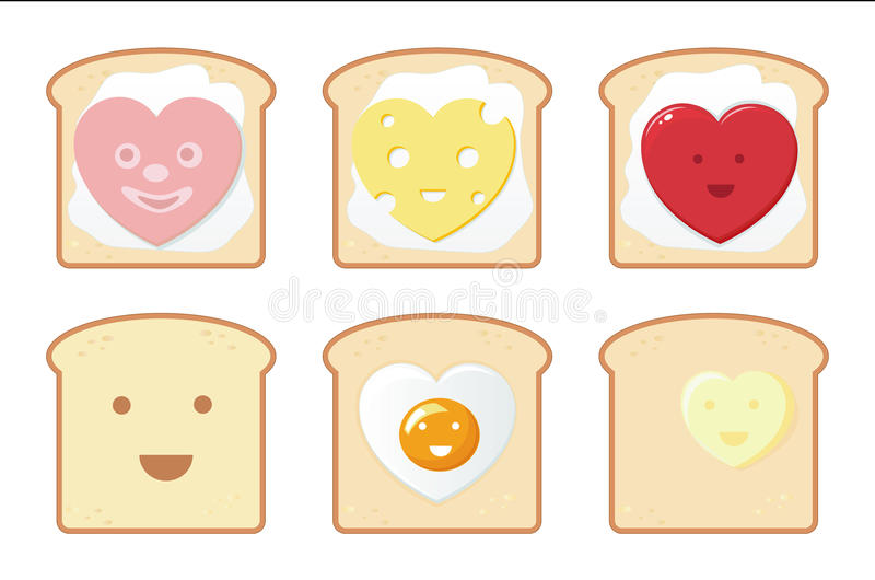 Download Funny Breakfast Icons Stock Photography - Image: 17996102