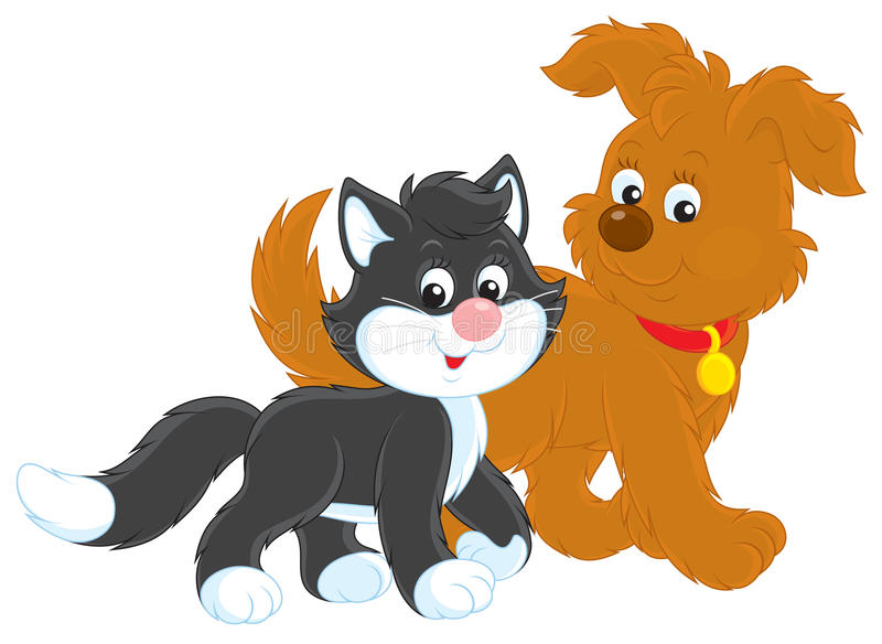 Download Dog and cat stock illustration. Image of cartoony, toon - 30134263