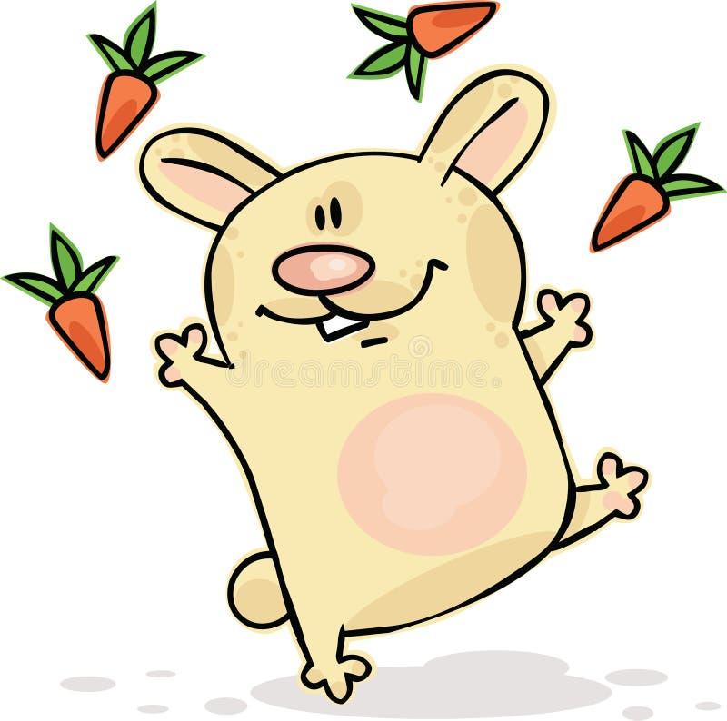 Download Funny bunny stock vector. Illustration of retro, cartoon - 12980421
