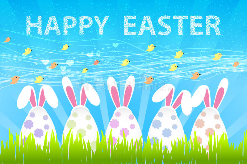 Funny bunny. Easter Bunny. vector illustration