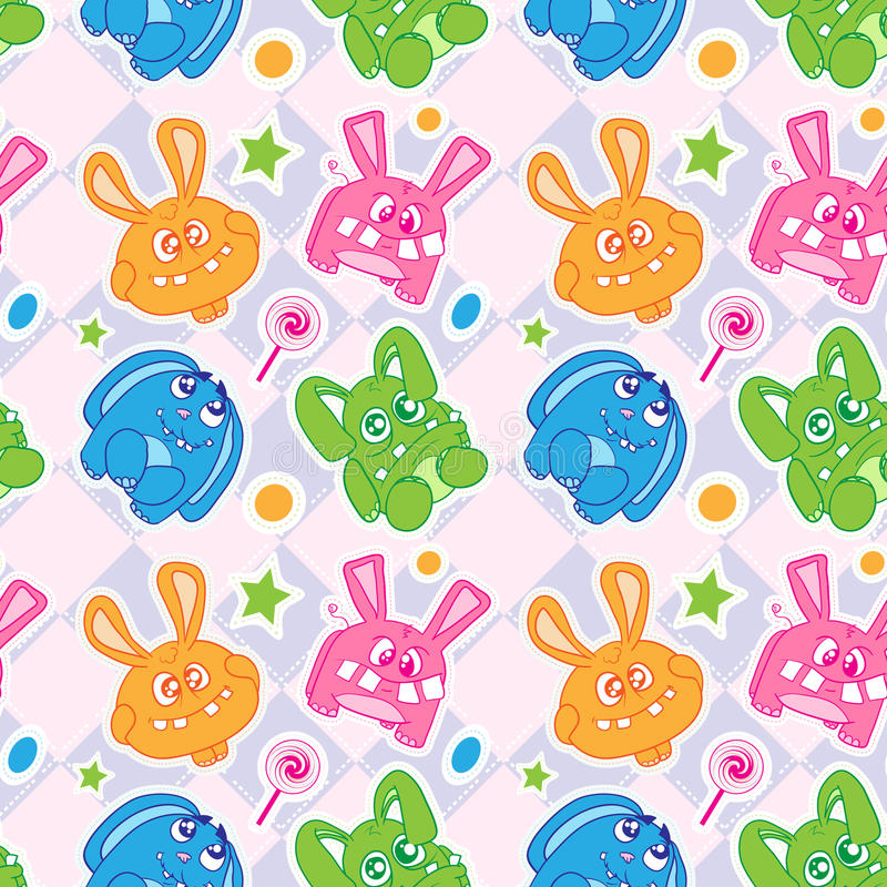 Download Funny Bunny Seamless Wallpaper Stock Vector - Image: 23023155