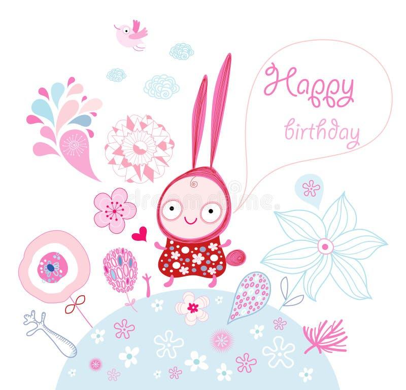 Funny Bunny Wishes Stock Photo