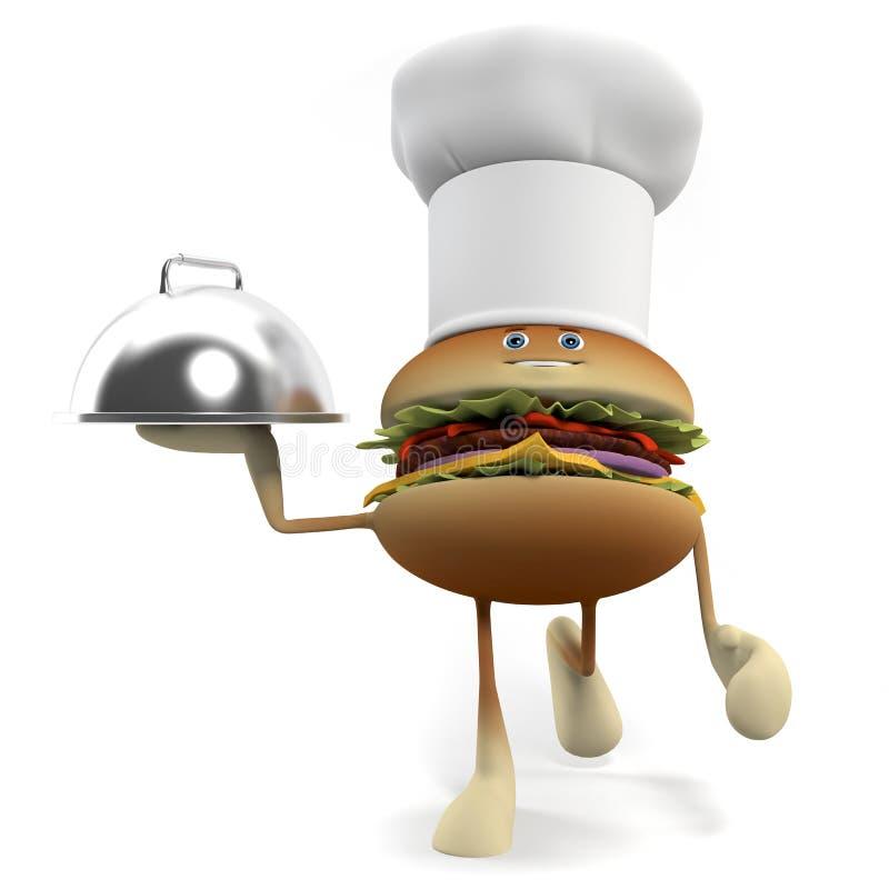 Download Funny burger stock illustration. Illustration of bread - 25373342