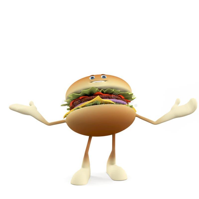 Download Funny burger stock illustration. Illustration of cuisine - 25373360
