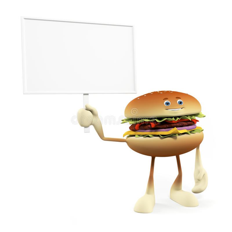 Funny Burger Stock Photography